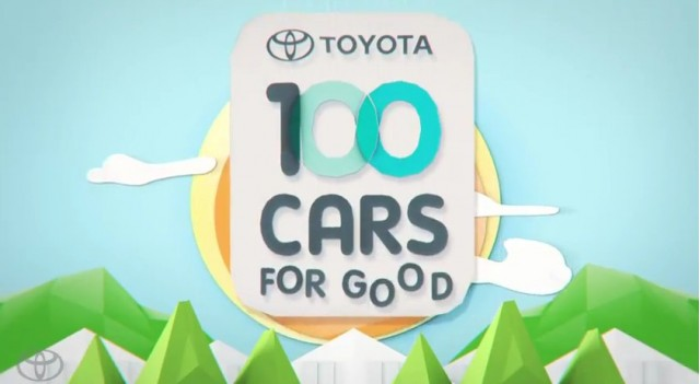 Toyota 100 Cars for Good campaign