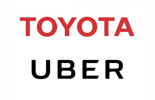 Toyota and Uber logos