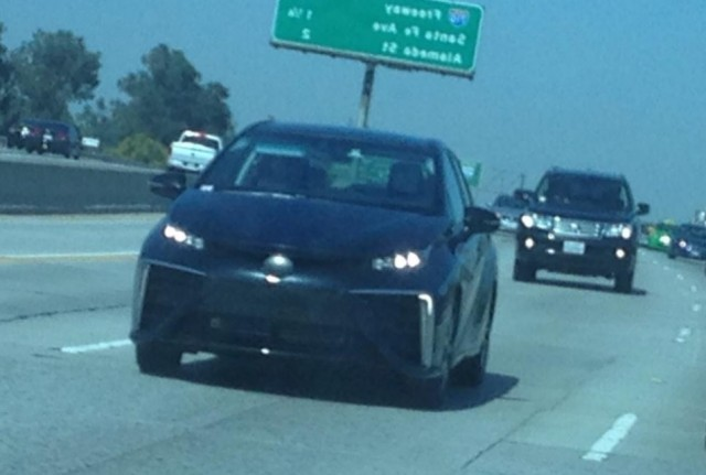 Toyota Fuel Cell Sedan pre-production prototype, Southern California, Sep 2014 [Mike Magrath]