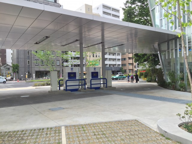 Toyota Mirai showroom and hydrogen fueling station, Tokyo, Japan, May 2015