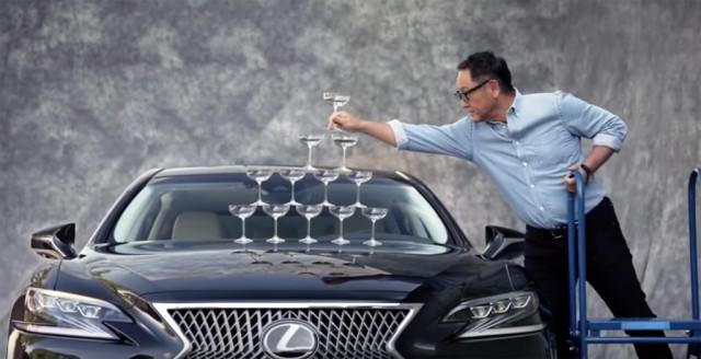 Toyota President Akio Toyoda recreates famous Lexus LS 400 spot from 1989