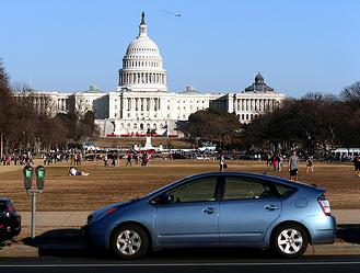 Toyota Prius at US Capitol, by Flickr user Izik