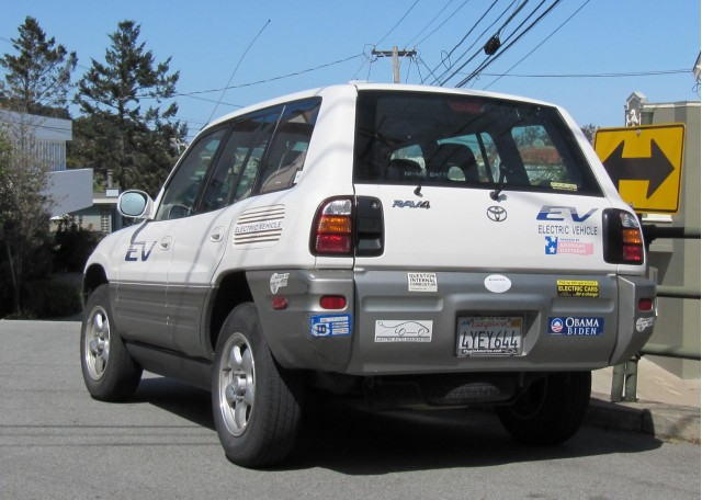 Toyota Rav4e Electric Vehicle San Francisco March 2010