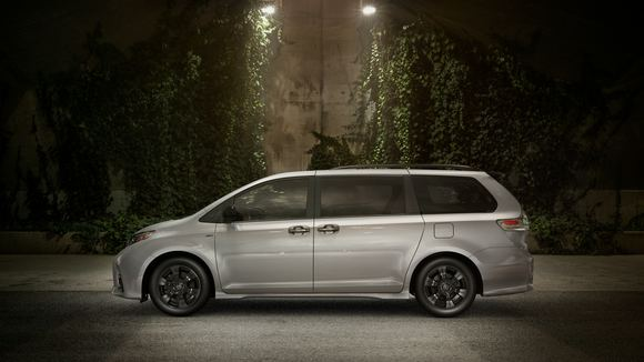 2020 Toyota Sienna Nightshade is a minivan in a tuxedo