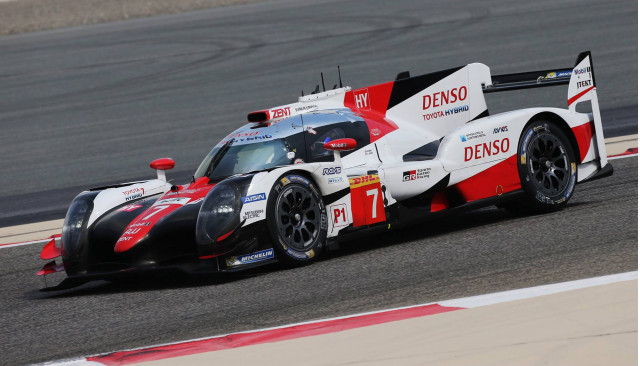 Toyota TS050 Hybrid during 2017 World Endurance Championship rookie test
