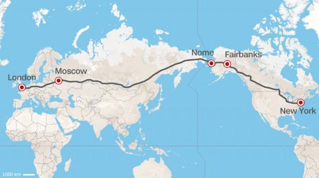 Trans-Eurasian Belt Development (TEPR) proposed route