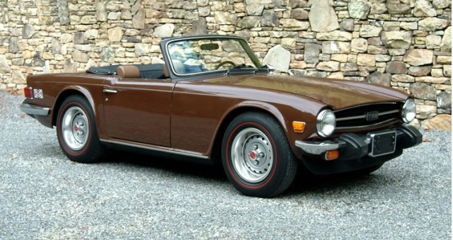 Triumph TR6 russet brown, TR-Register.co.uk