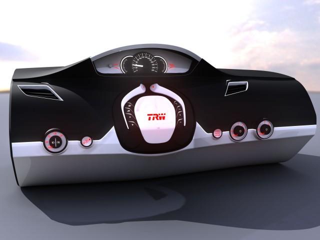 TRW's folding steering wheel concept