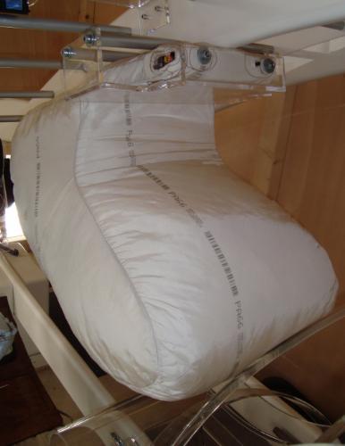 TRW's roof-mounted airbag. Image: TRW
