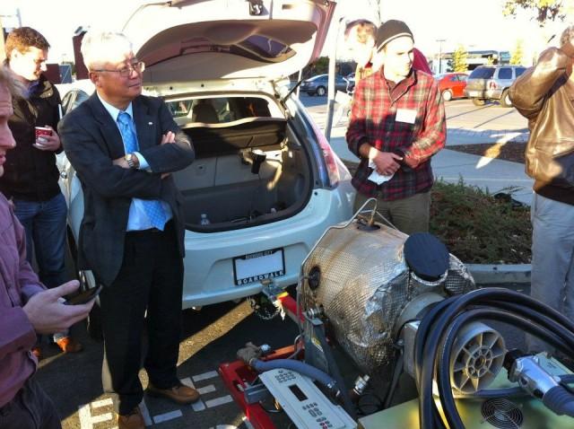 Turbine Powered Nissan Leaf Range Extender, Charger