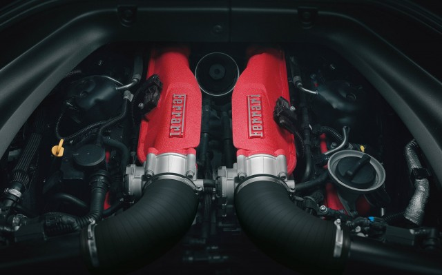 Turbocharged engine of the Ferrari California T