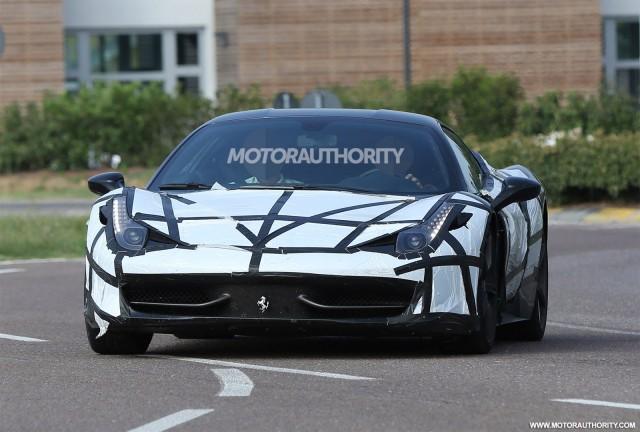Turbocharged Ferrari 458M spy shots