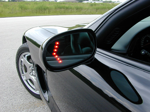 Turn signal mirror