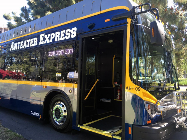 UC Irvine BYD electric bus