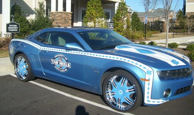 590749926 2010 UNC Tarheels edition Camaro ready for Game Day