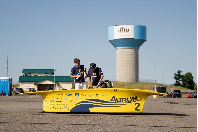 University of Michigan solar car