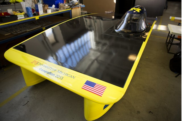 University of Michigan's World Solar Challenge car (Photo: Flickr user Michigan Engineering)