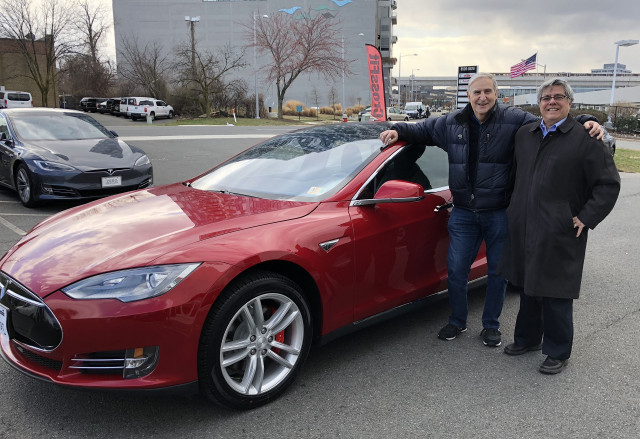 Used 2015 Tesla Model S P85D on day of purchase