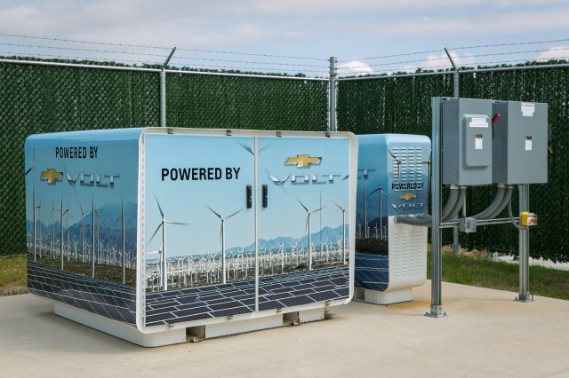 Used Chevrolet Volt Batteries For Energy Storage At Gm Facility In Ord Michigan