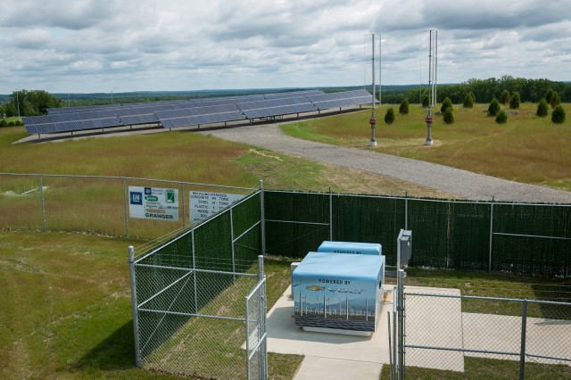 Used Chevrolet Volt batteries for energy storage at GM facility in Milford, Michigan