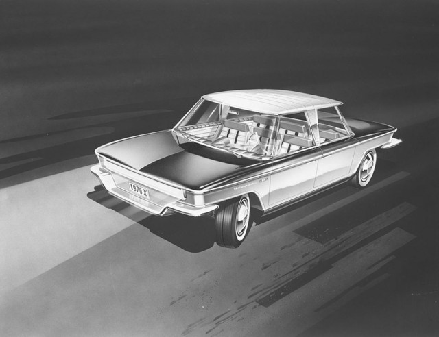 Utopia sedan concept by designer Brooks Stevens, 1960  [image courtesy Milwaukee Art Museum]