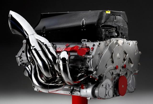 V-8 engine from Ferrari's 2008 Formula 1 race car