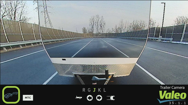 Valeo camera system to see through trailers, CES 2019