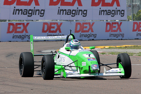 Veach in the USF2000 car - Photo courtesy Zach Veach
