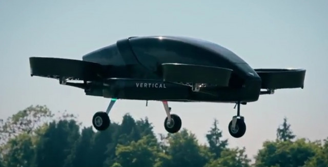 Vertical Aerospace flying taxi single-passenger prototype