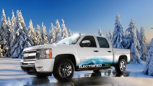 Via Motors Vtrux extended-range electric pickup.