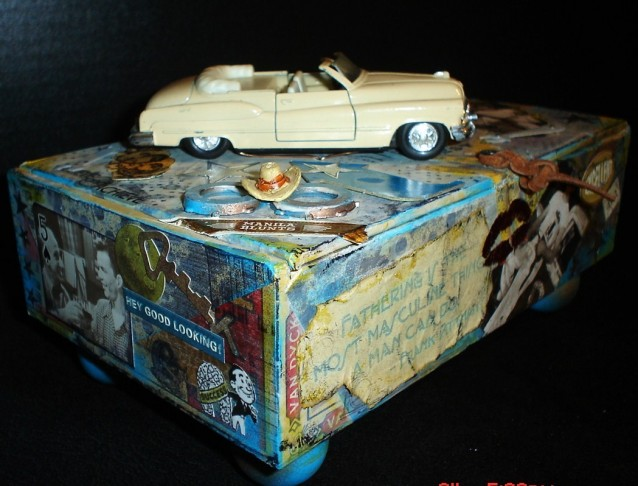 Vintage 50s car treasure box by pammaro [on Etsy.com]