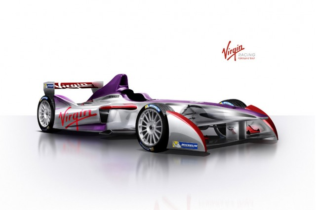 Virgin Racing Formula E electric race car