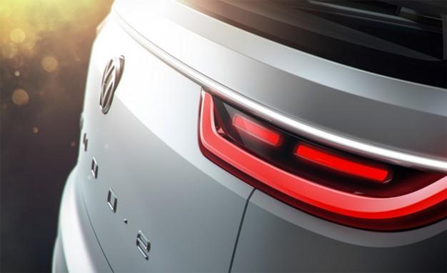 Volkswagen 2016 CES electric concept vehicle teaser photo