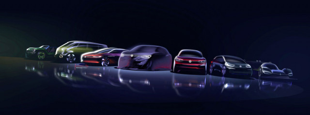 Volkswagen 8-car MEB electric-car lineup
