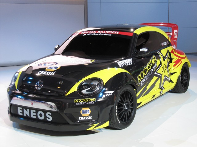 Volkswagen Beetle Global RallyCross car at the 2014 Chicago Auto Show