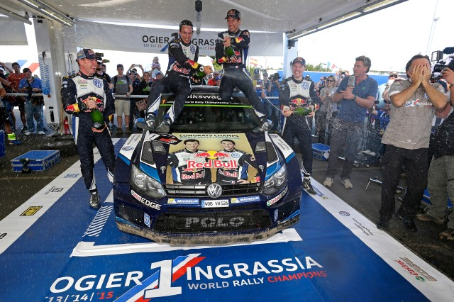 Volkswagen celebrates 2015 World Rally Championship victory