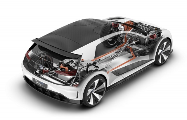 Vw Golf Gte Sport Concept 174 Mph Plug In Hybrid Carbon Bodied Golf