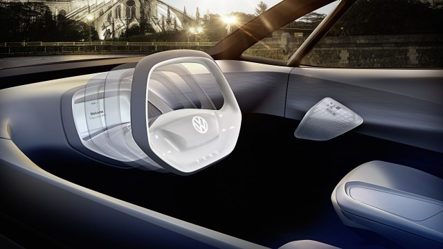 Volkswagen I D Electric Car Concept 2016 Paris Auto Show