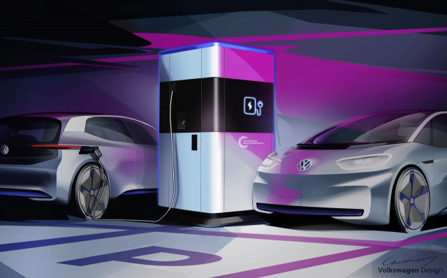 Volkswagen previews ultra-fast portable charging station