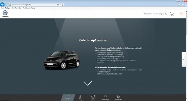 Volkswagen Up online sales in Denmark