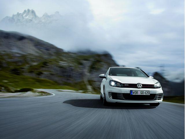 2010 Volkswagen GTI on road