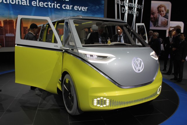 Volkswagen I.D. Buzz concept, 2017 Detroit auto show