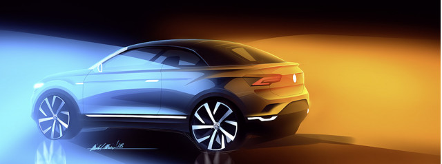 Volkswagen T-Roc convertible sketch