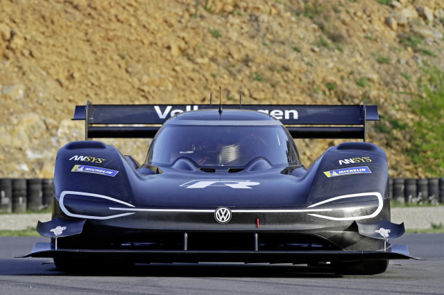 Volkswagen testing the I.D. R Pikes Peak race car