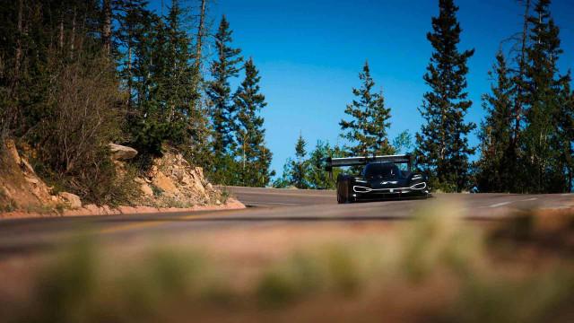VW ID R testing at Pikes Peak