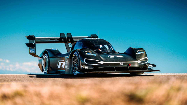 VW ID R testing at Pikes Peak