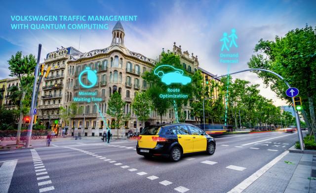 VW quantum computer traffic management system
