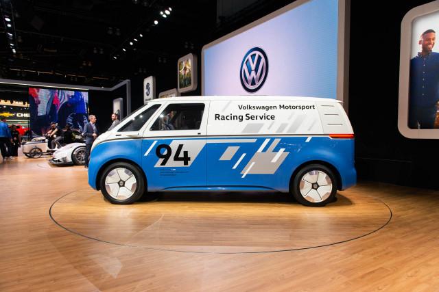 VW ID Buzz Cargo Concept, 2018 LA Auto Show