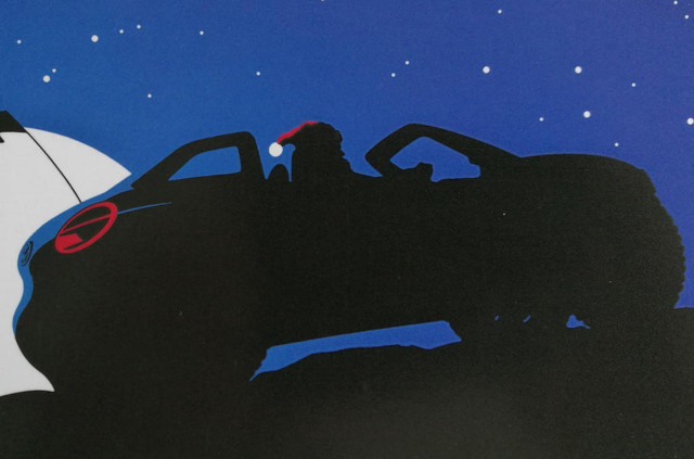 Volkswagen beach buggy teaser on corporate Christmas card