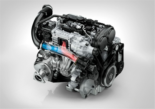 Volvo Drive-E four-cylinder engine - turbocharged and supercharged